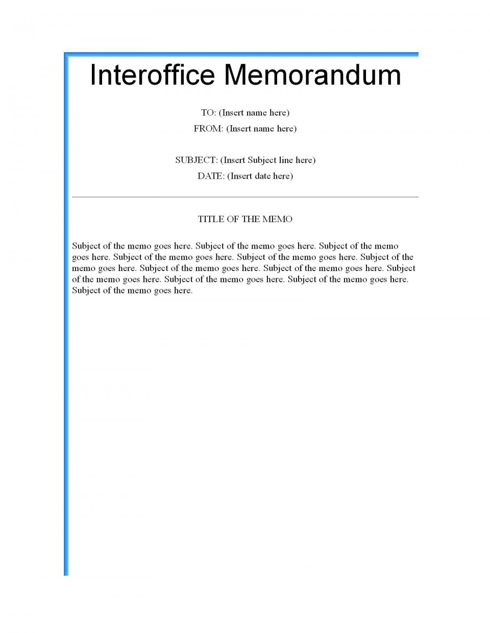 003 Formidable Microsoft Word Memo Template Highest Clarity  Professional 2010 Free Legal960