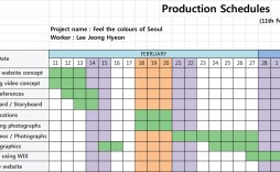 003 Formidable Production Schedule Template Excel Image  Planning Sheet Master