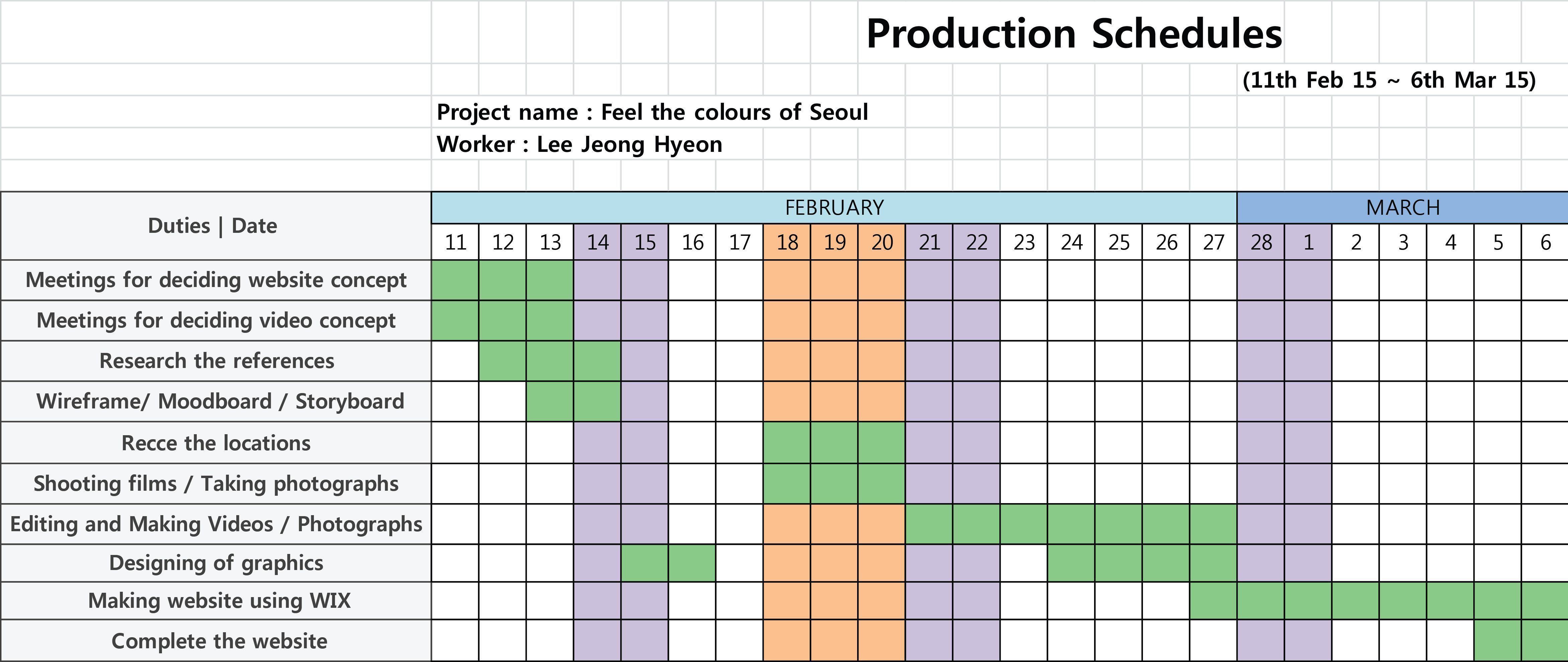 003 Formidable Production Schedule Template Excel Image  Planning Sheet MasterFull