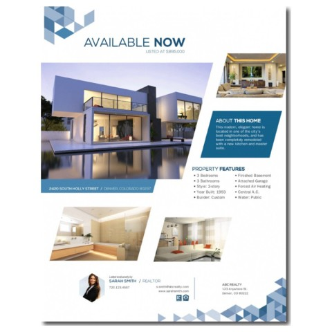 003 Formidable Real Estate Advertising Template Photo  Newspaper Ad Instagram Craigslist480