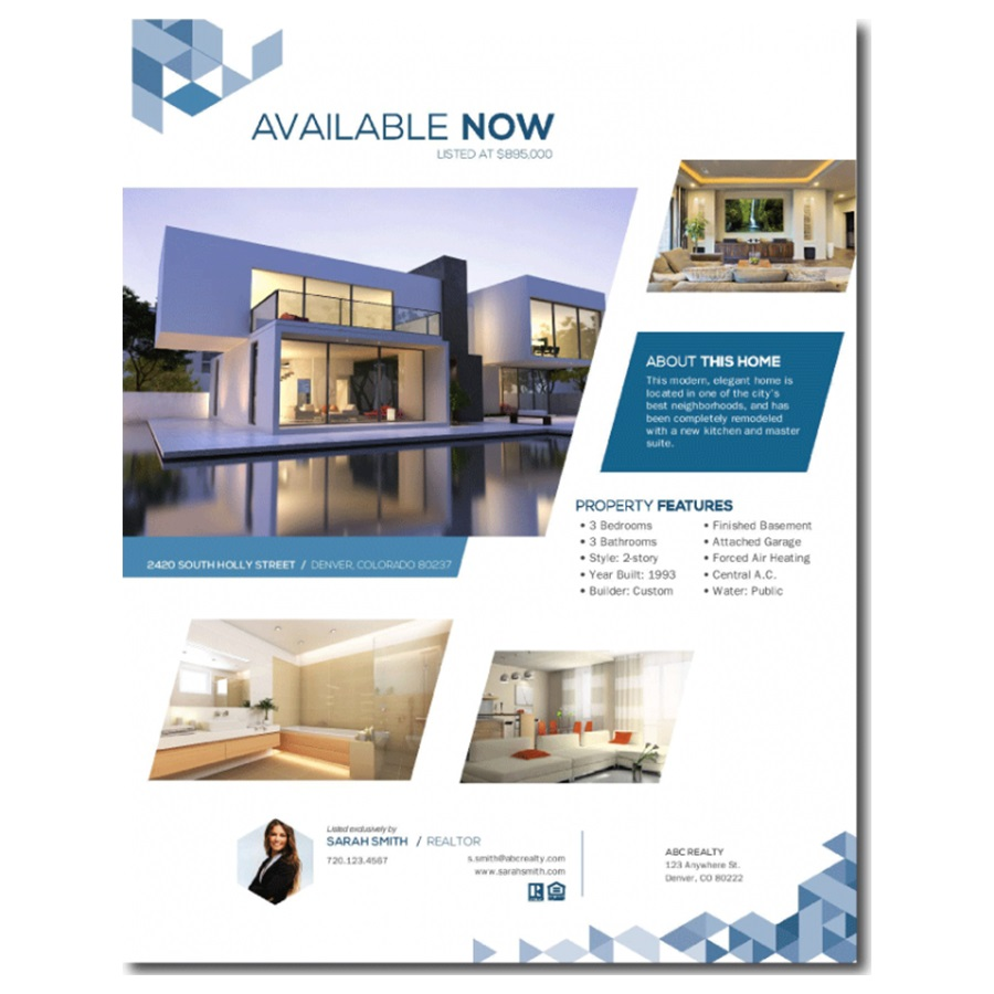 003 Formidable Real Estate Advertising Template Photo  Newspaper Ad Instagram CraigslistFull