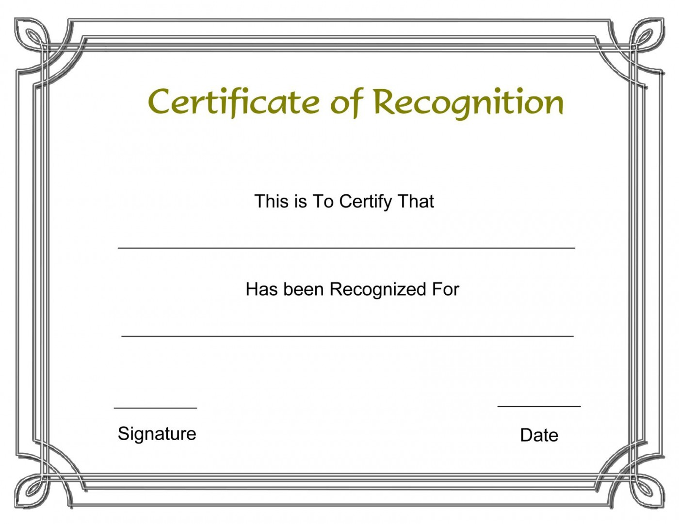 003 Formidable Recognition Certificate Template Free Design  Employee Award Of Download Word1400