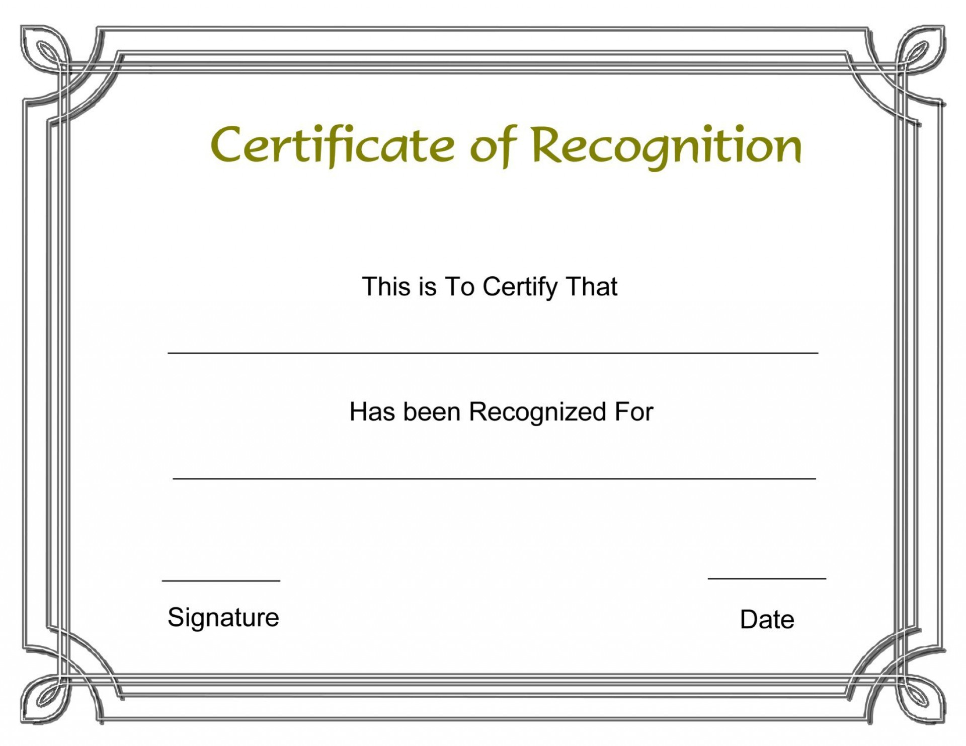 003 Formidable Recognition Certificate Template Free Design  Employee Award Of Download Word1920
