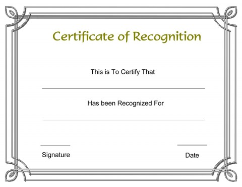 003 Formidable Recognition Certificate Template Free Design  Employee Award Of Download Word480