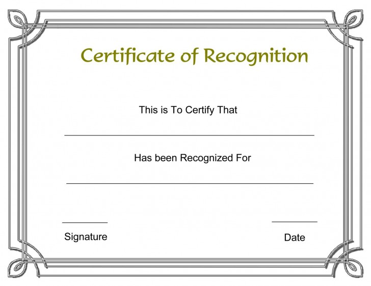 003 Formidable Recognition Certificate Template Free Design  Employee Award Of Download Word728