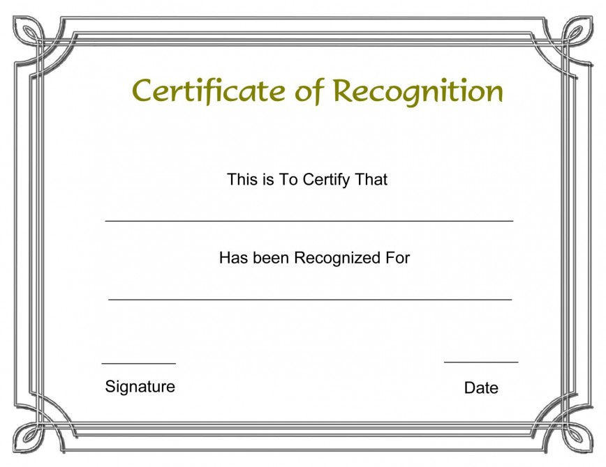 003 Formidable Recognition Certificate Template Free Design  Employee Award Of Download Word868