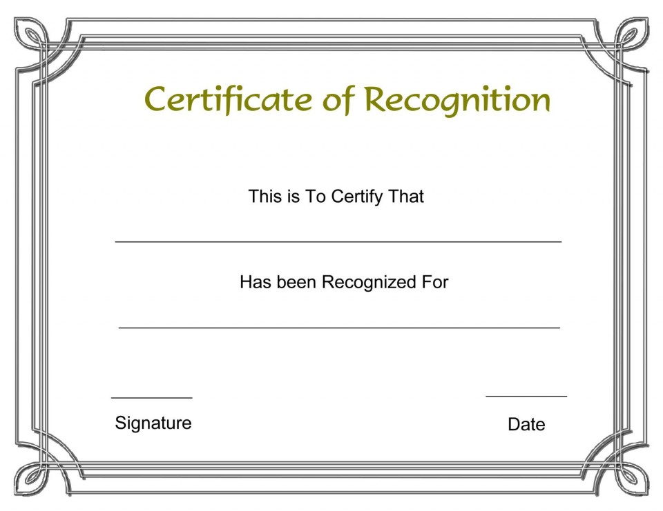 003 Formidable Recognition Certificate Template Free Design  Employee Award Of Download Word960