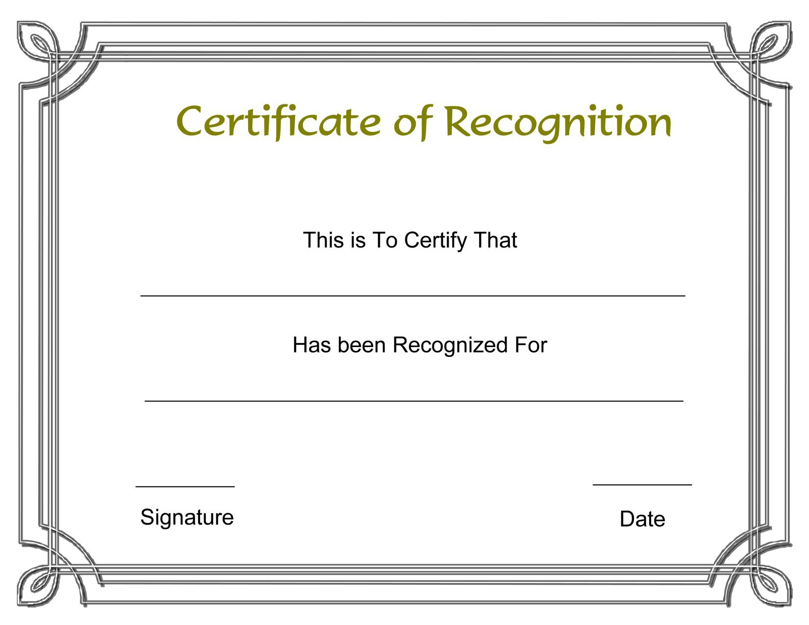 003 Formidable Recognition Certificate Template Free Design  Employee Award Of Download WordFull