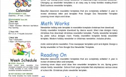 003 Formidable School Newsletter Template Free Sample  Elementary For Microsoft Word