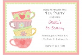 003 Formidable Tea Party Invitation Template Image  Wording Vintage Free Sample