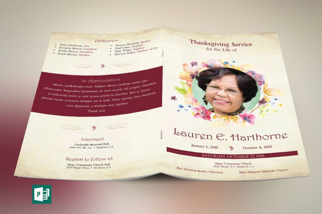 003 Formidable Template For Funeral Program Publisher Idea Large
