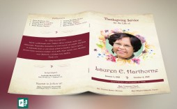 003 Formidable Template For Funeral Program Publisher Idea