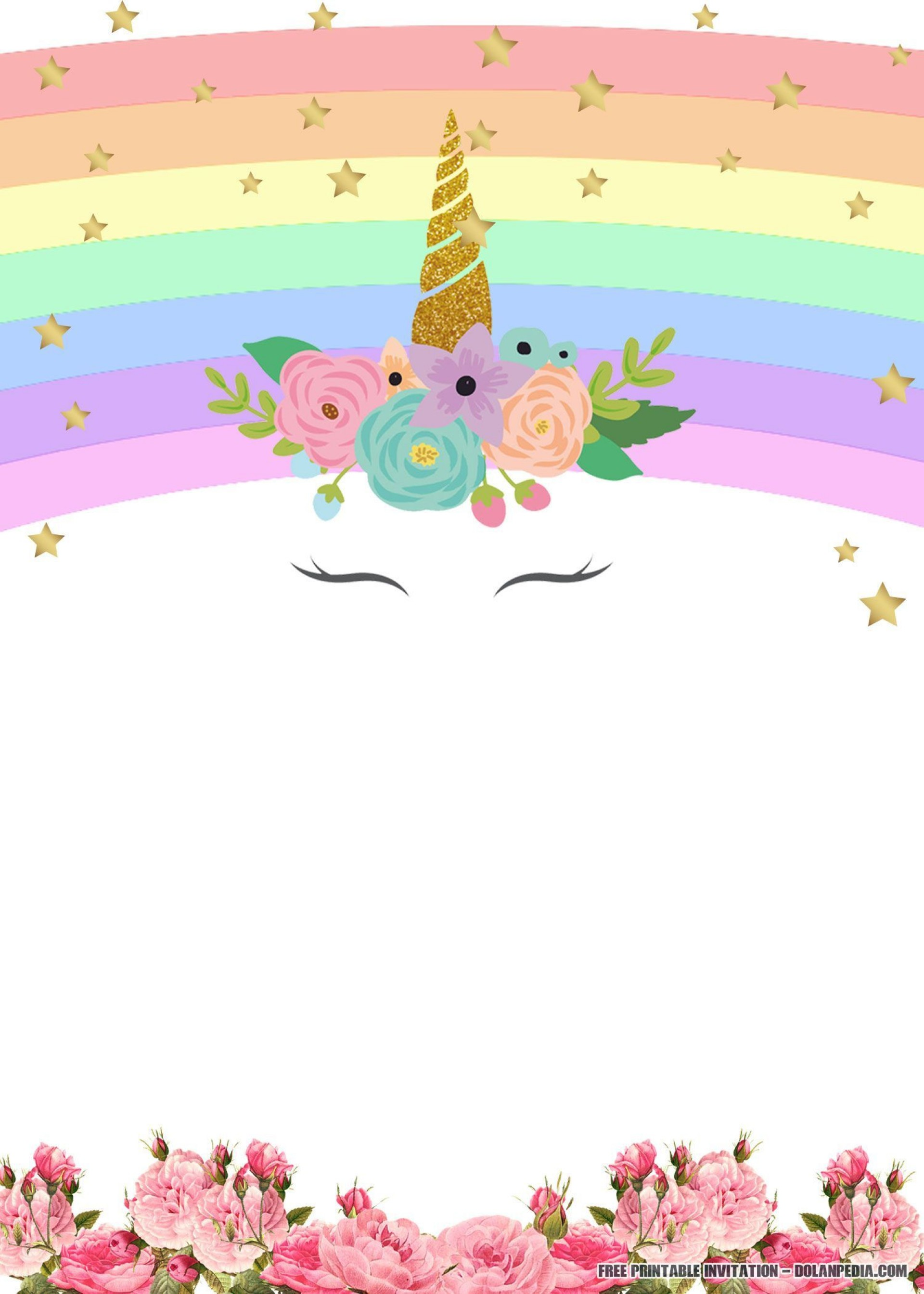 003 Formidable Unicorn Baby Shower Template Free Download Image  Printable Invitation1920