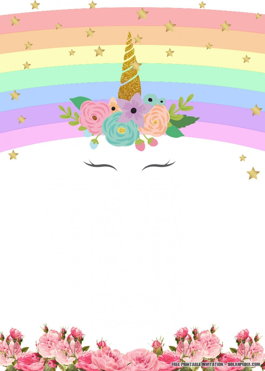 003 Formidable Unicorn Baby Shower Template Free Download Image  Printable Invitation