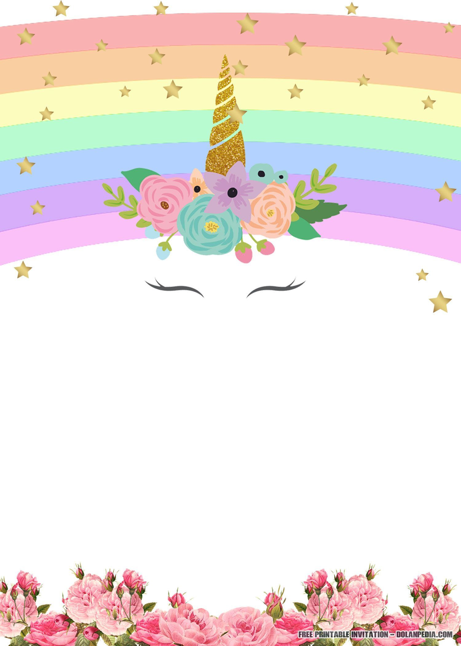 003 Formidable Unicorn Baby Shower Template Free Download Image  Printable InvitationFull