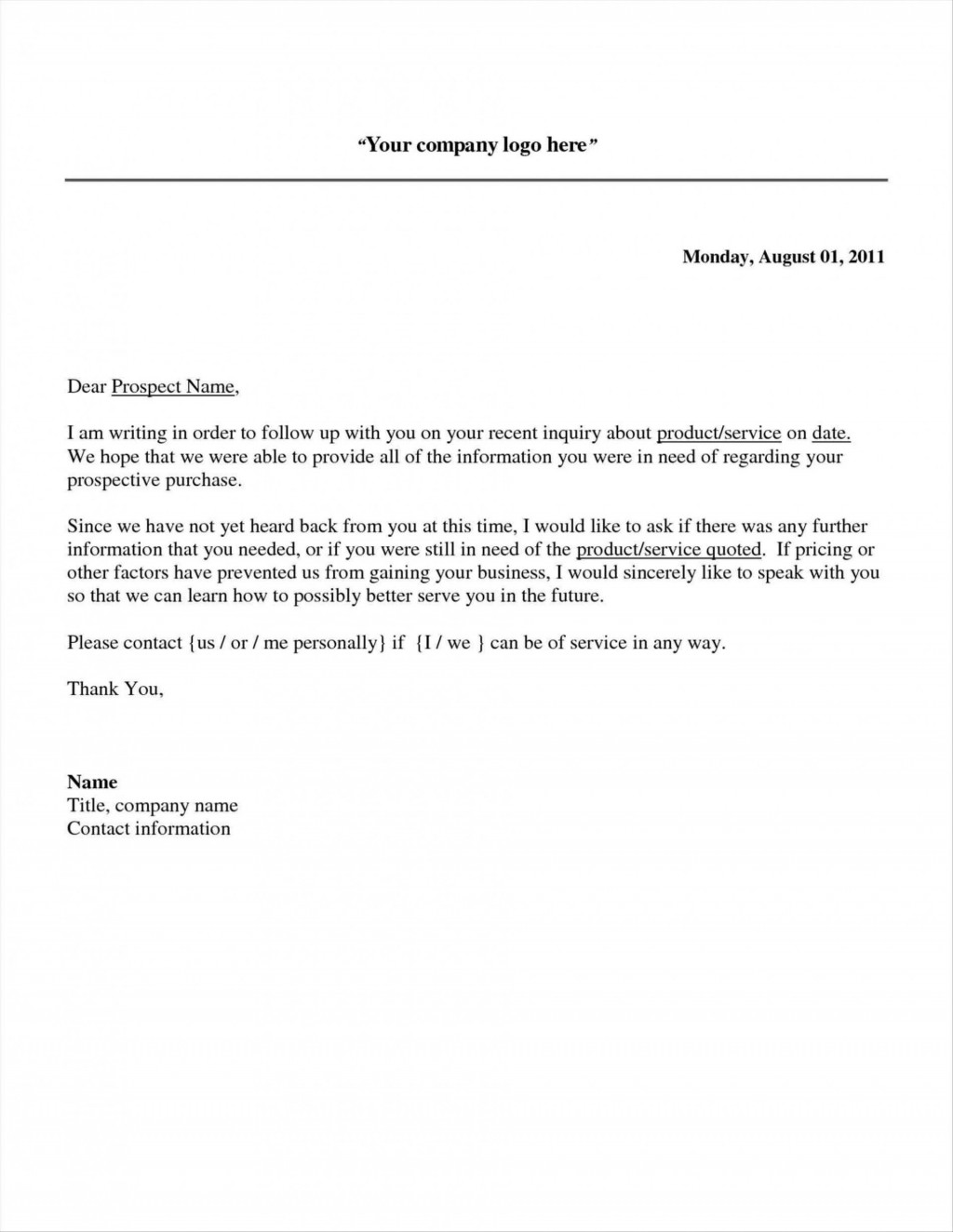 003 Frightening Follow Up Email Template After No Response High Definition Large