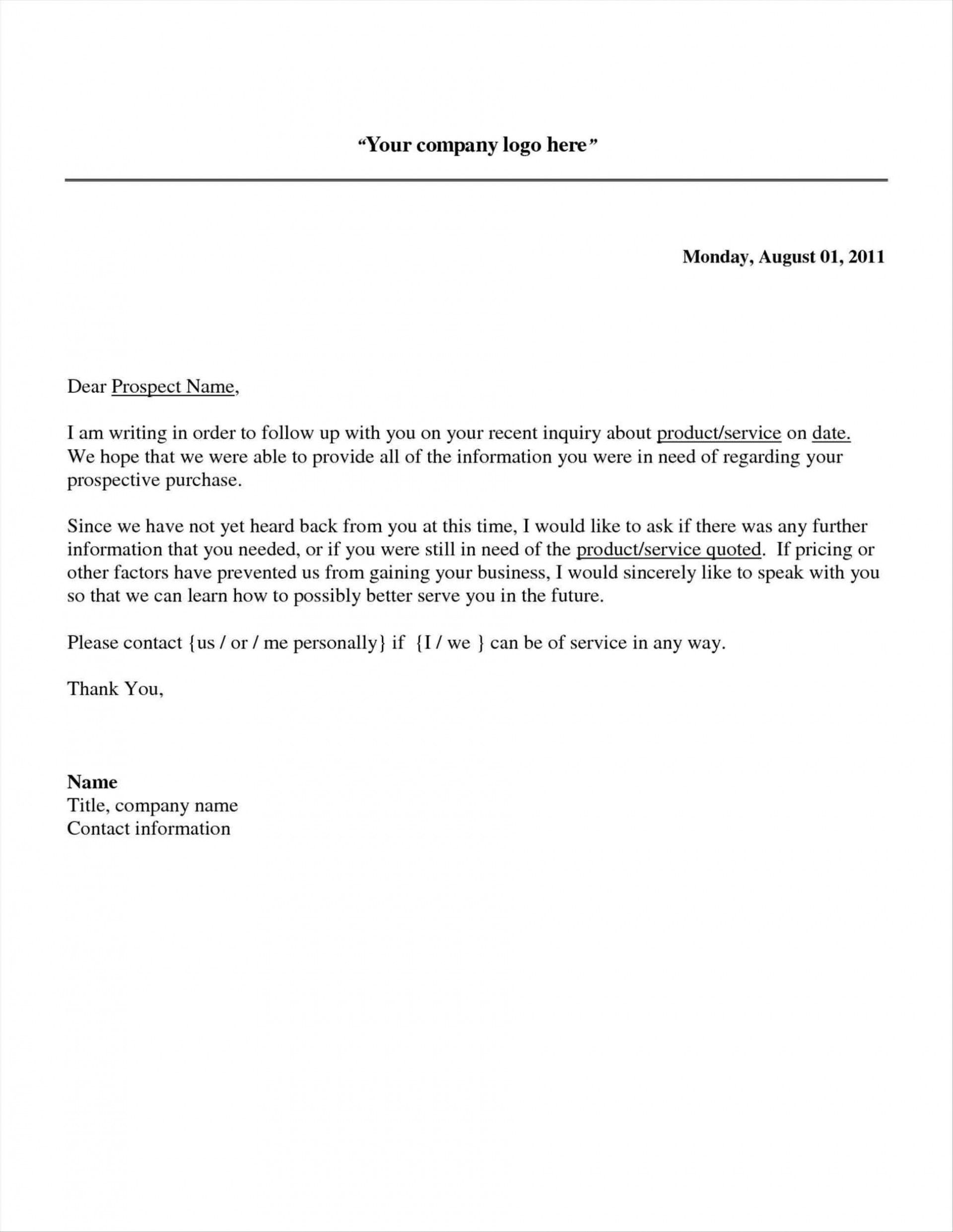003 Frightening Follow Up Email Template After No Response High Definition 1920