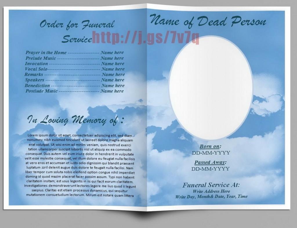 003 Frightening Free Funeral Program Template Word Image  Microsoft 2010 Tri FoldLarge