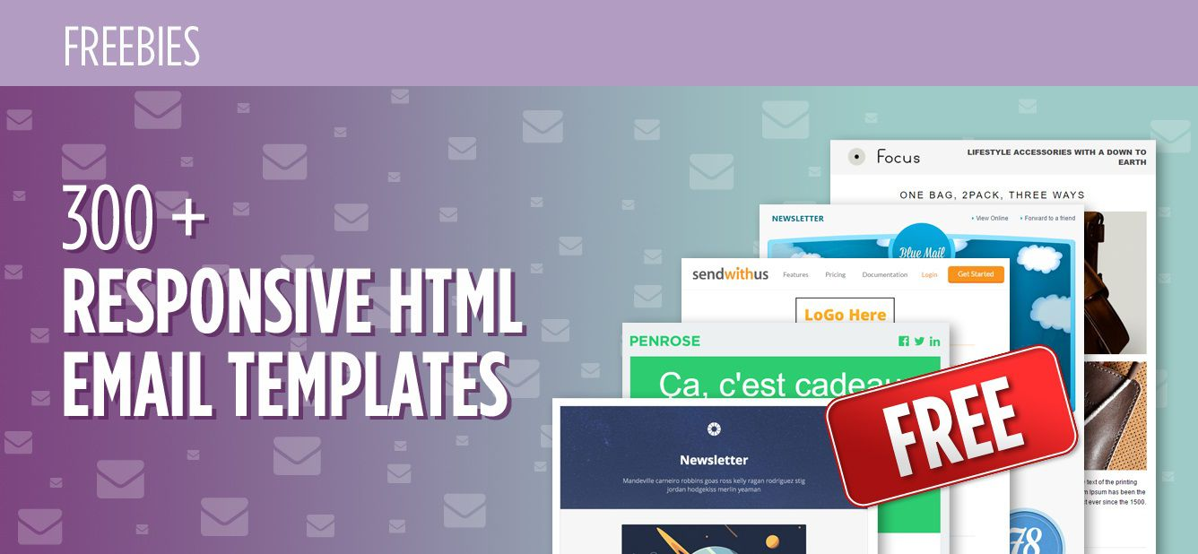 003 Frightening Free Responsive Html Email Template Download Sample  Simple App-responsive-notification-email-html-templateFull