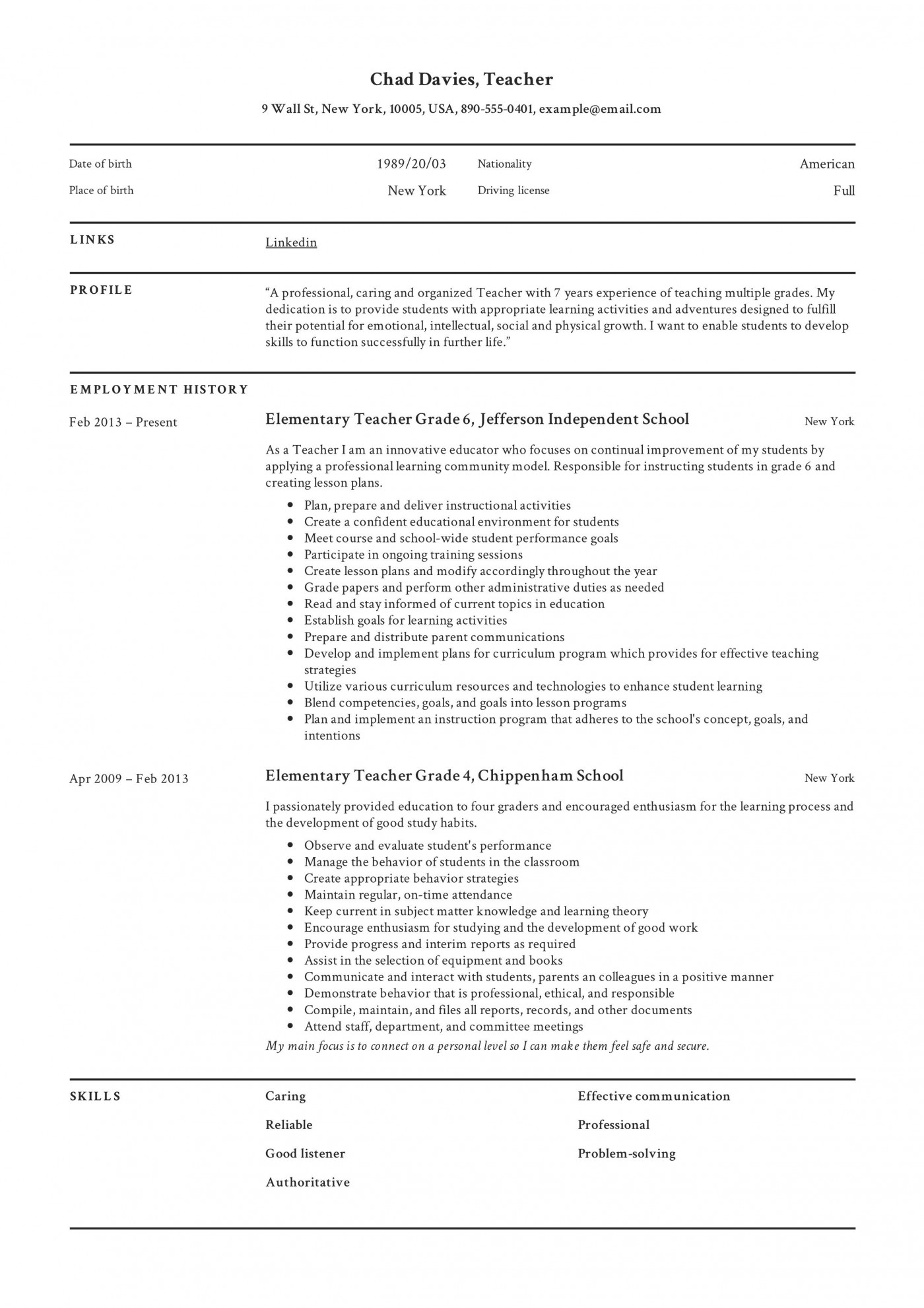 003 Frightening Good Resume For Teaching Job High Definition  Sample Teacher Fresher In India1400