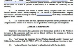 003 Frightening Llc Operating Agreement Template Free Concept  Single Member Pdf Simple Download