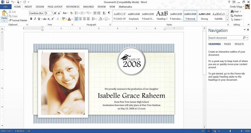 003 Frightening Microsoft Word Graduation Invitation Template Concept  Party868