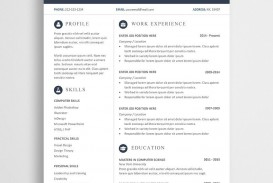 003 Frightening Modern Cv Template Word Free Download 2019 Highest Clarity