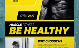 003 Frightening Personal Trainer Flyer Template Example  Word Psd