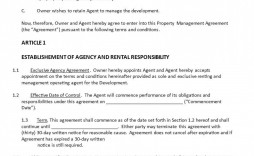 003 Frightening Rental Property Management Contract Sample Highest Quality  Vacation Template