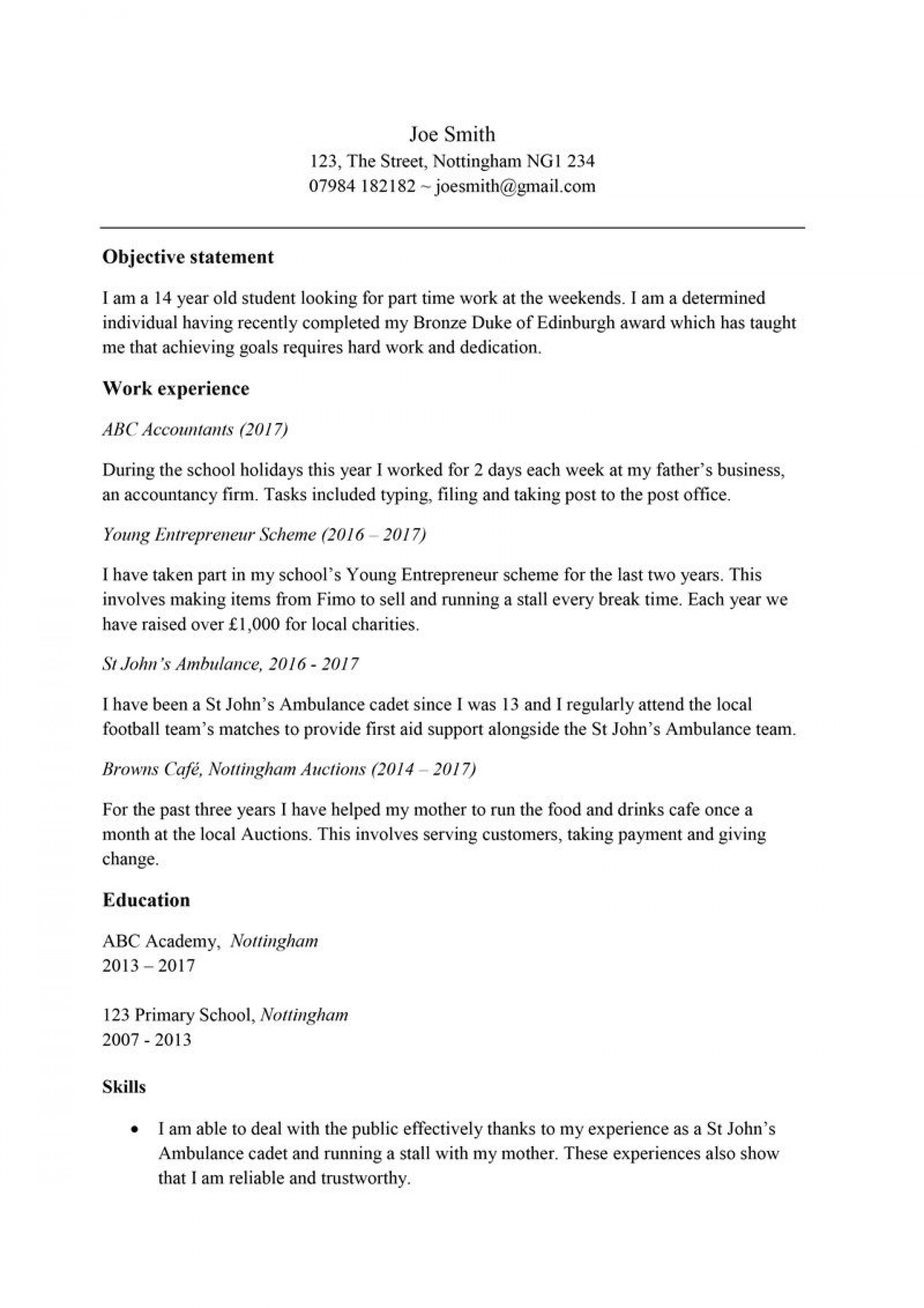 003 Frightening Resume Template For Teen High Definition  Teens1920