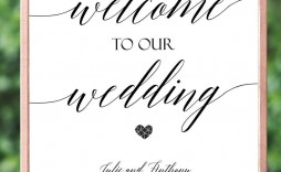 003 Frightening Wedding Welcome Sign Printable Template Highest Quality  Free