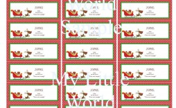 003 Imposing Christma Shipping Label Template High Def  Templates Mailing Free