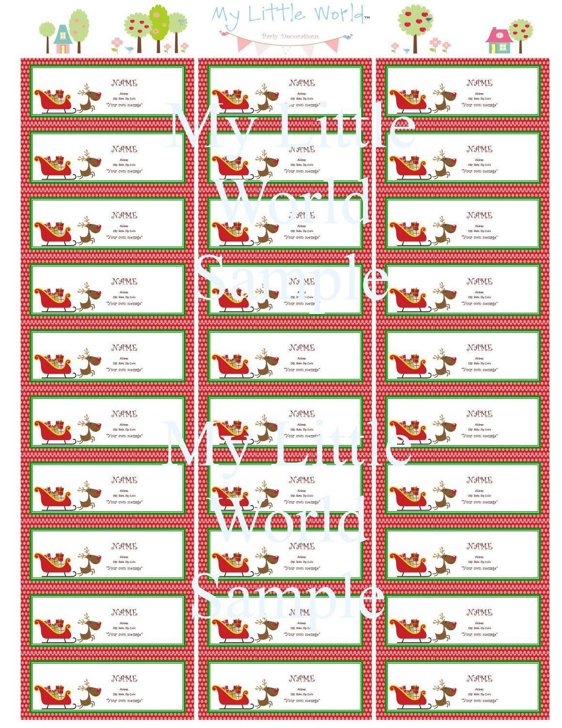003 Imposing Christma Shipping Label Template High Def  Templates Mailing FreeFull