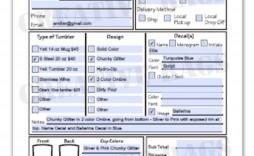 003 Imposing Custom Order Form Template Free High Def  Editable T Shirt Tumbler
