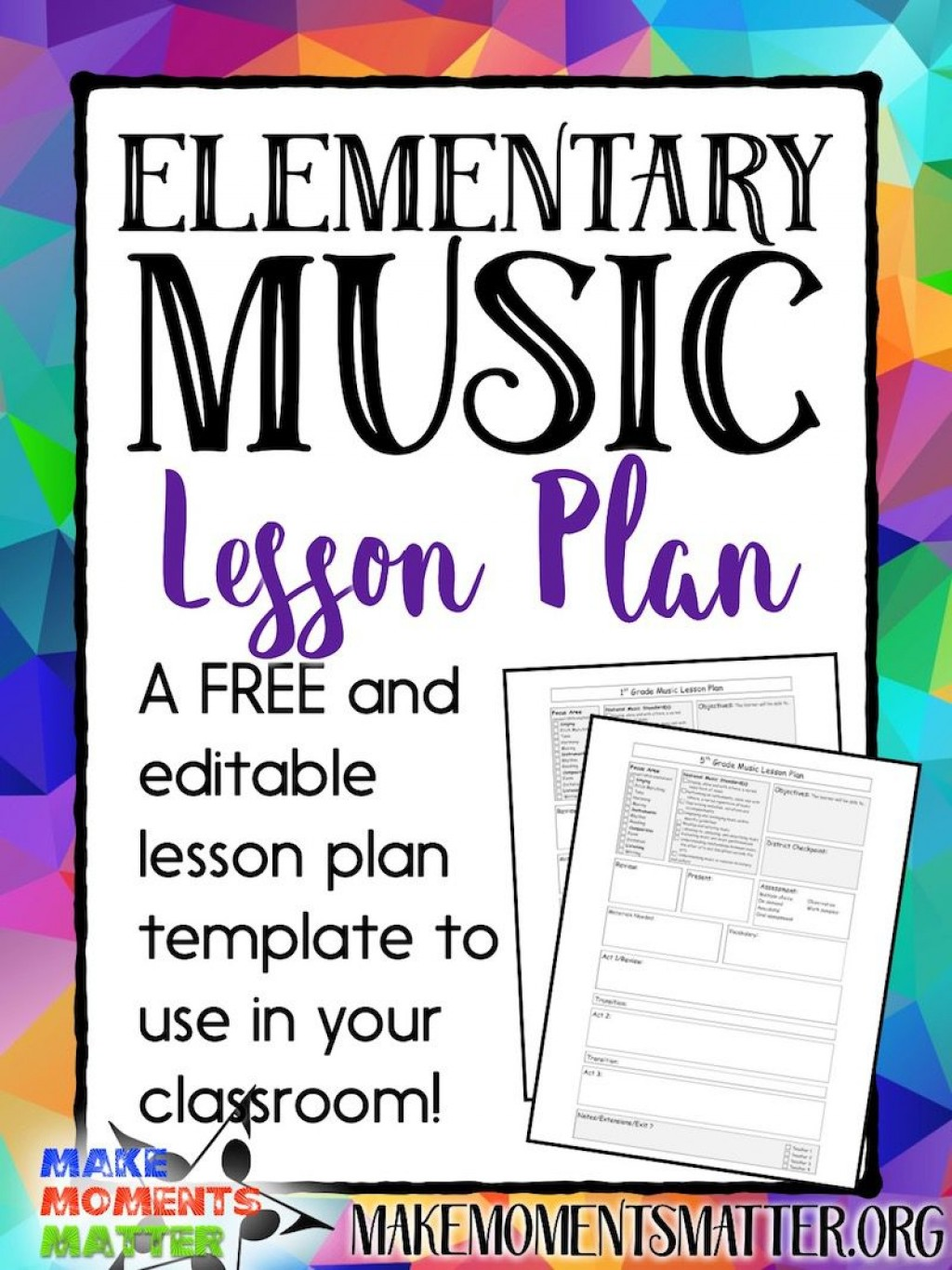 003 Imposing Editable Lesson Plan Template Elementary Inspiration Large