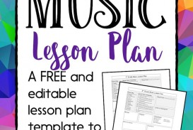 003 Imposing Editable Lesson Plan Template Elementary Inspiration