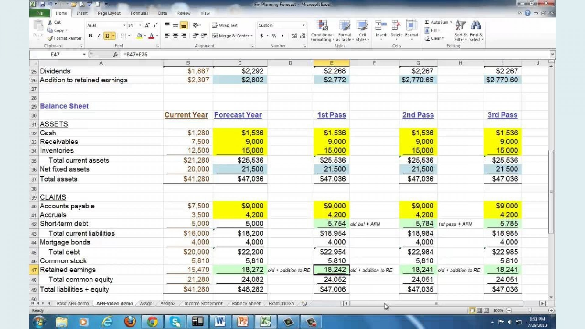 003 Imposing Financial Plan Template Excel Design  Strategic Busines Simple1920