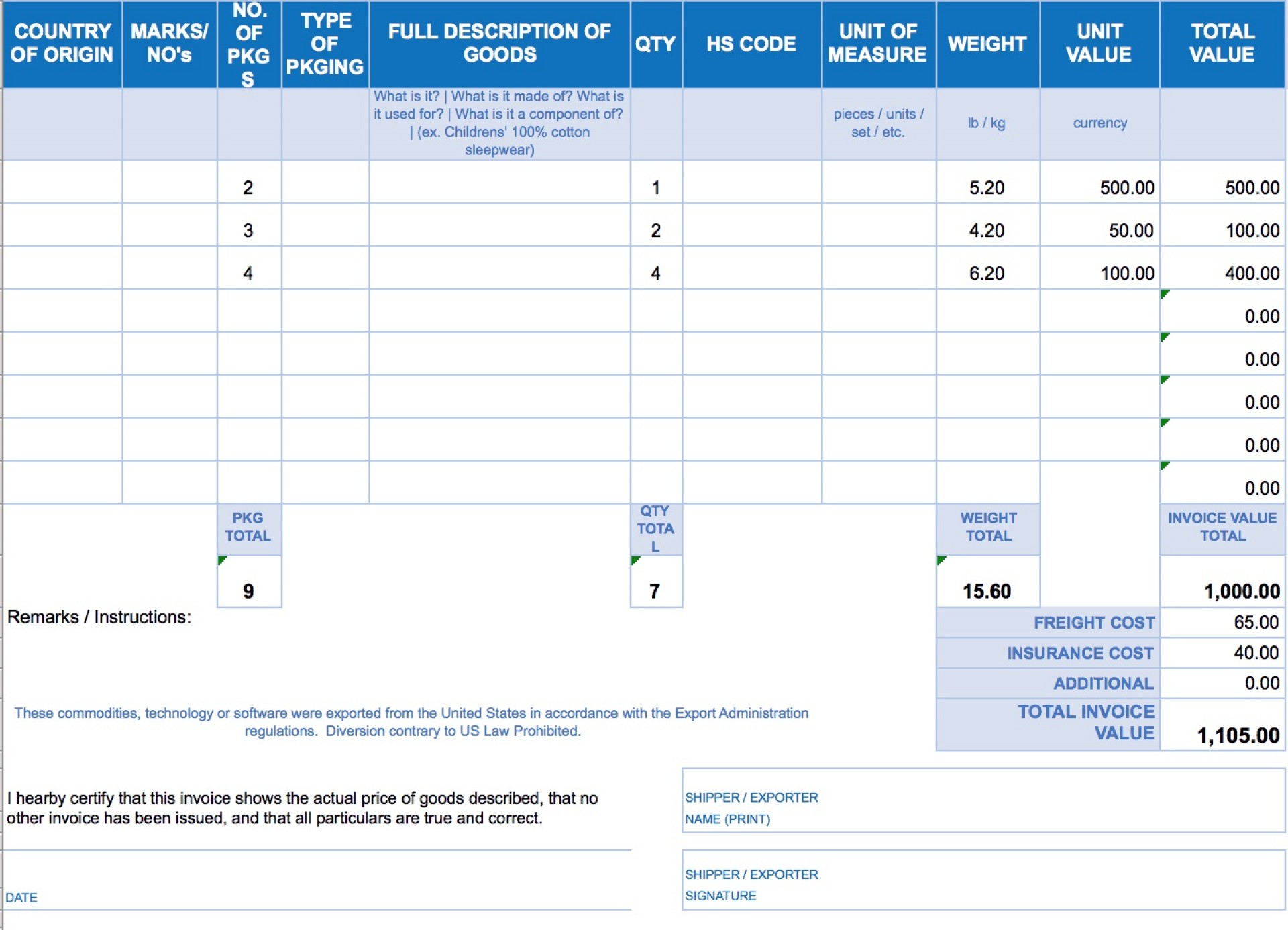 003 Imposing Free Excell Invoice Template Picture  Excel Gst India Canada Tax Australia1920