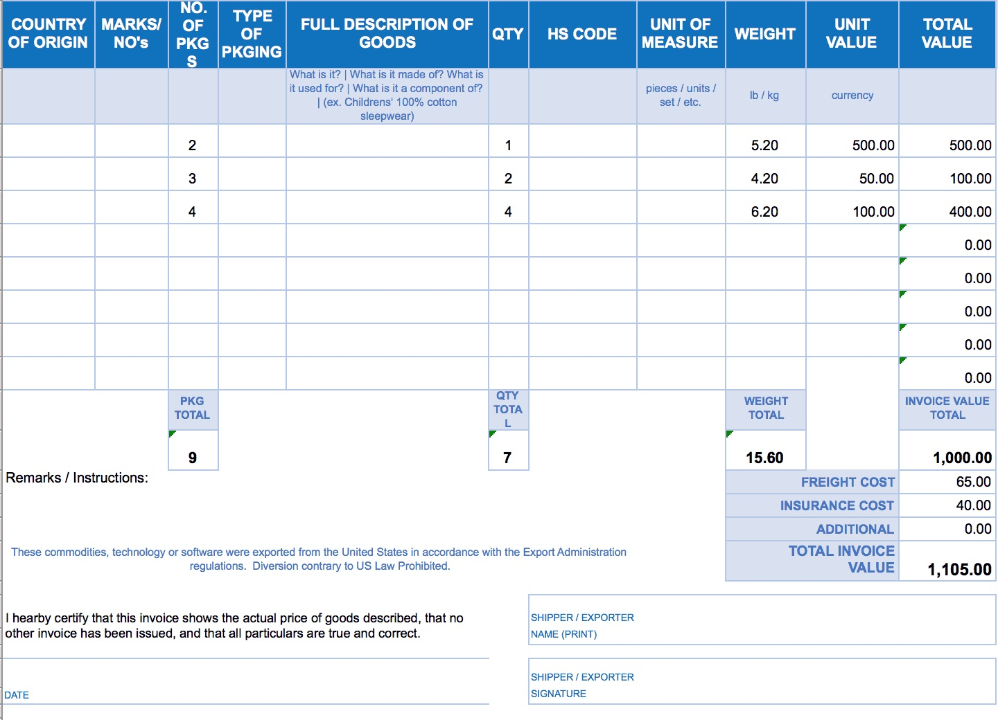 003 Imposing Free Excell Invoice Template Picture  Excel Gst India Canada Tax AustraliaFull