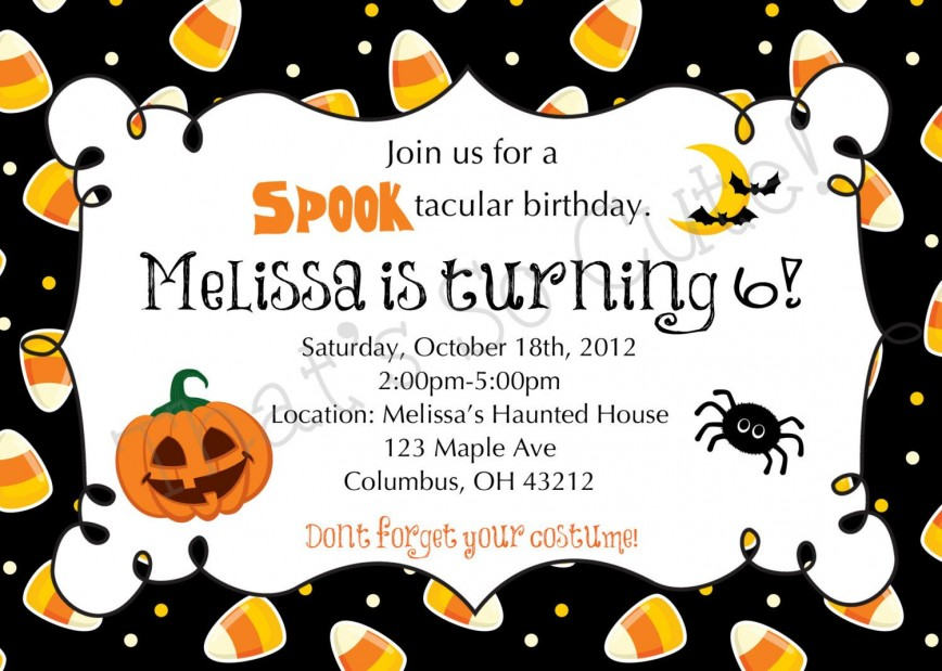 003 Imposing Free Halloween Party Invitation Template Inspiration  Printable Birthday For Word Download868
