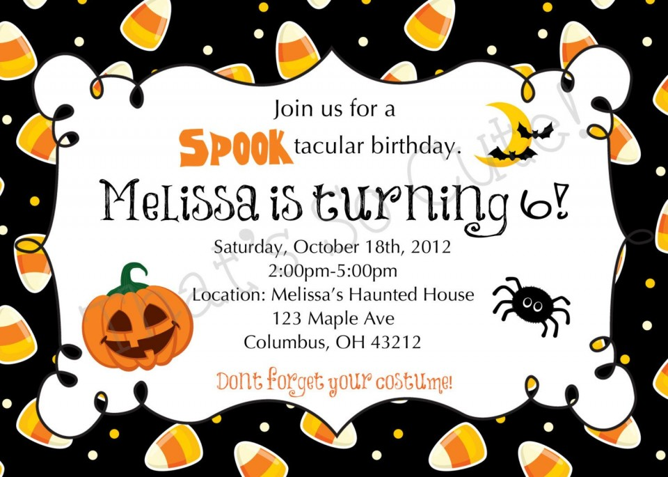 003 Imposing Free Halloween Party Invitation Template Inspiration  Printable Birthday For Word Download960