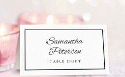 003 Imposing Free Table Name Place Card Template Design  Placement