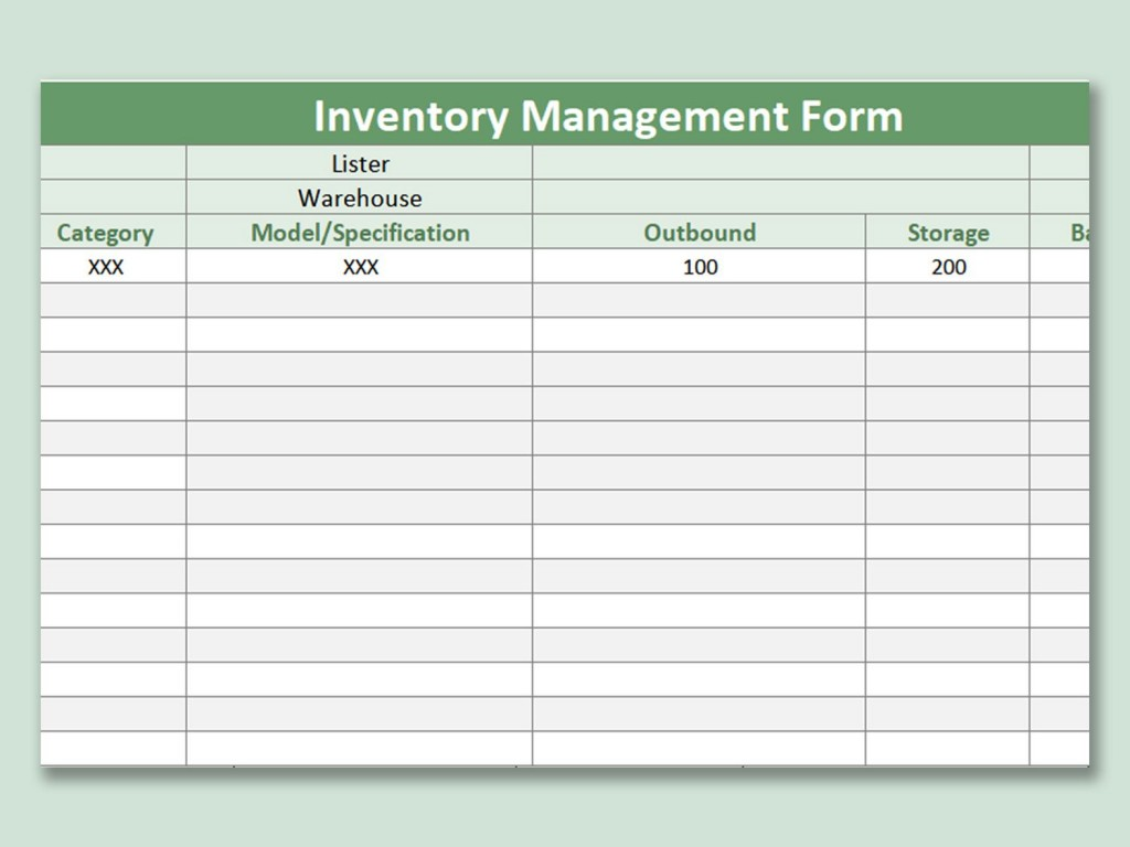 003 Imposing Inventory Sign Out Sheet Template Picture  Word Free ExcelLarge