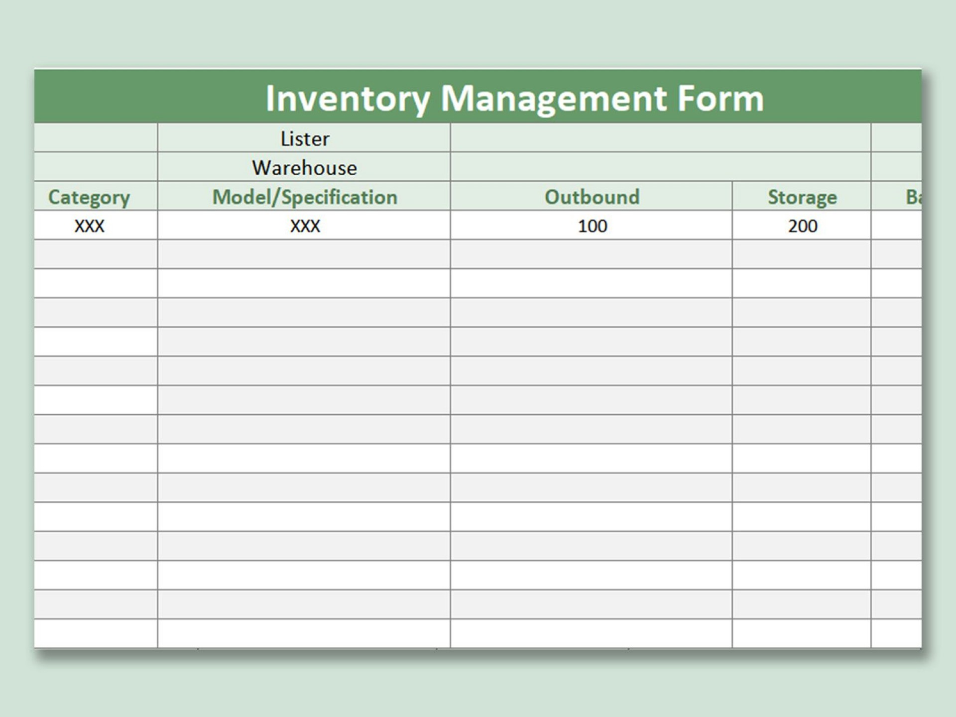 003 Imposing Inventory Sign Out Sheet Template Picture  Word Free Excel1920