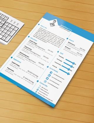 003 Imposing Microsoft Word Template Download Image  M Cv Free Header320