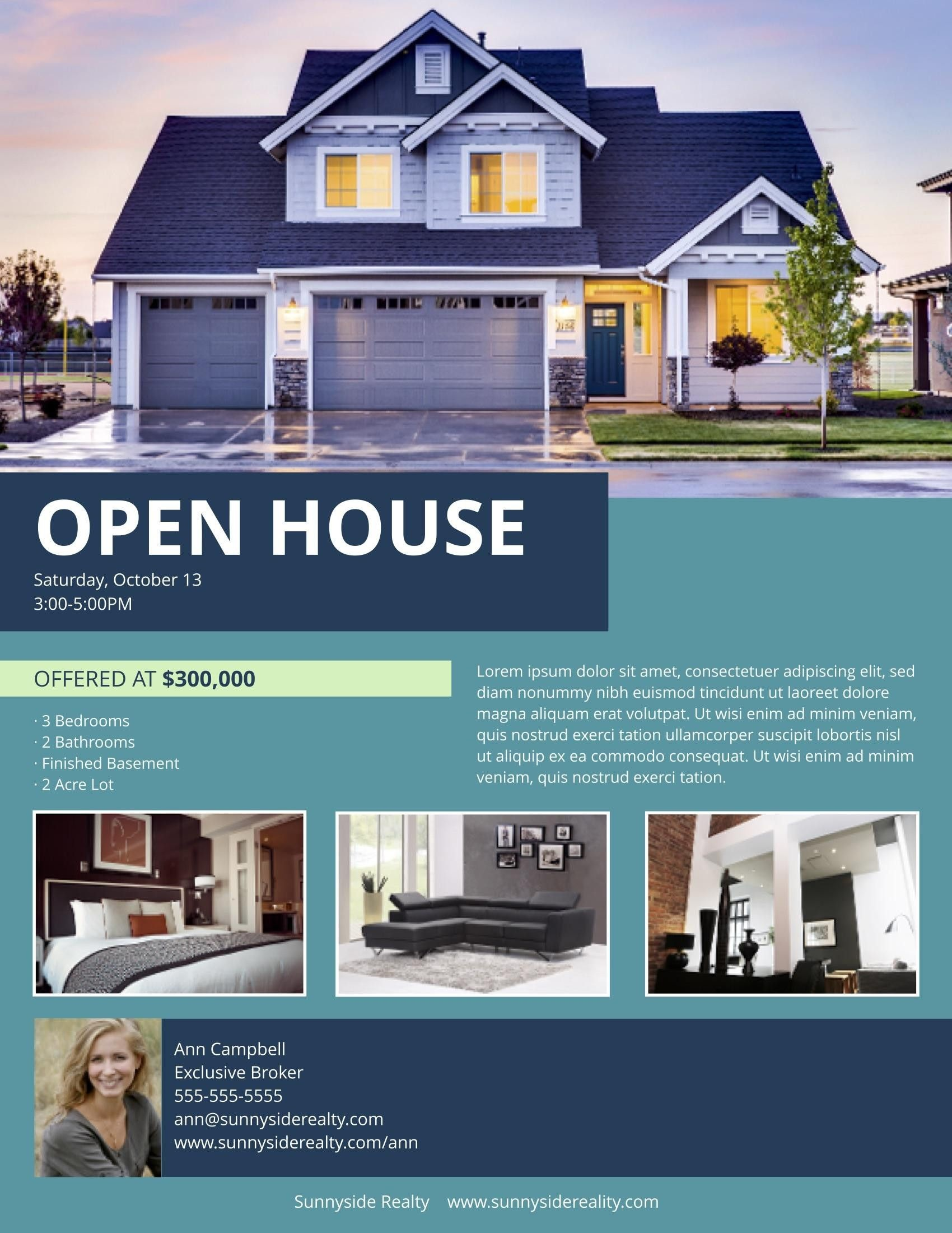 003 Imposing Real Estate Marketing Flyer Template Free Example Full