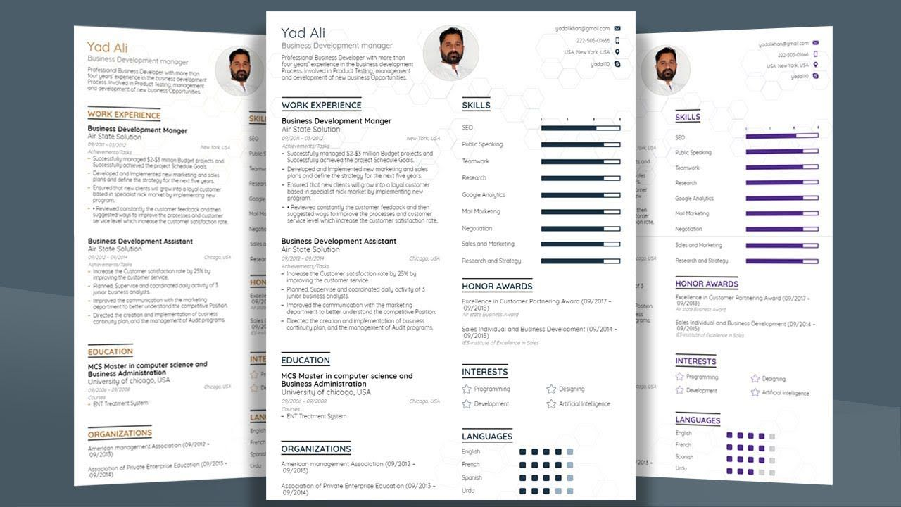003 Imposing Resume Template M Word 2019 Example  Microsoft FreeFull