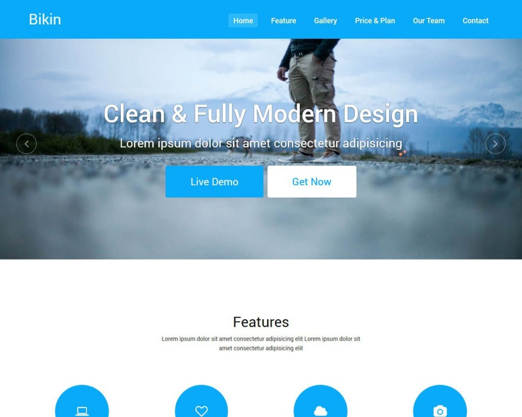 003 Imposing Simple Landing Page Template Idea  Html Bootstrap FreeLarge
