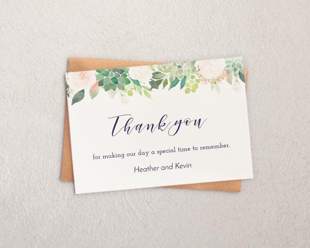 003 Imposing Thank You Note Template Wedding Shower Highest Clarity  Bridal Card Sample WordingLarge