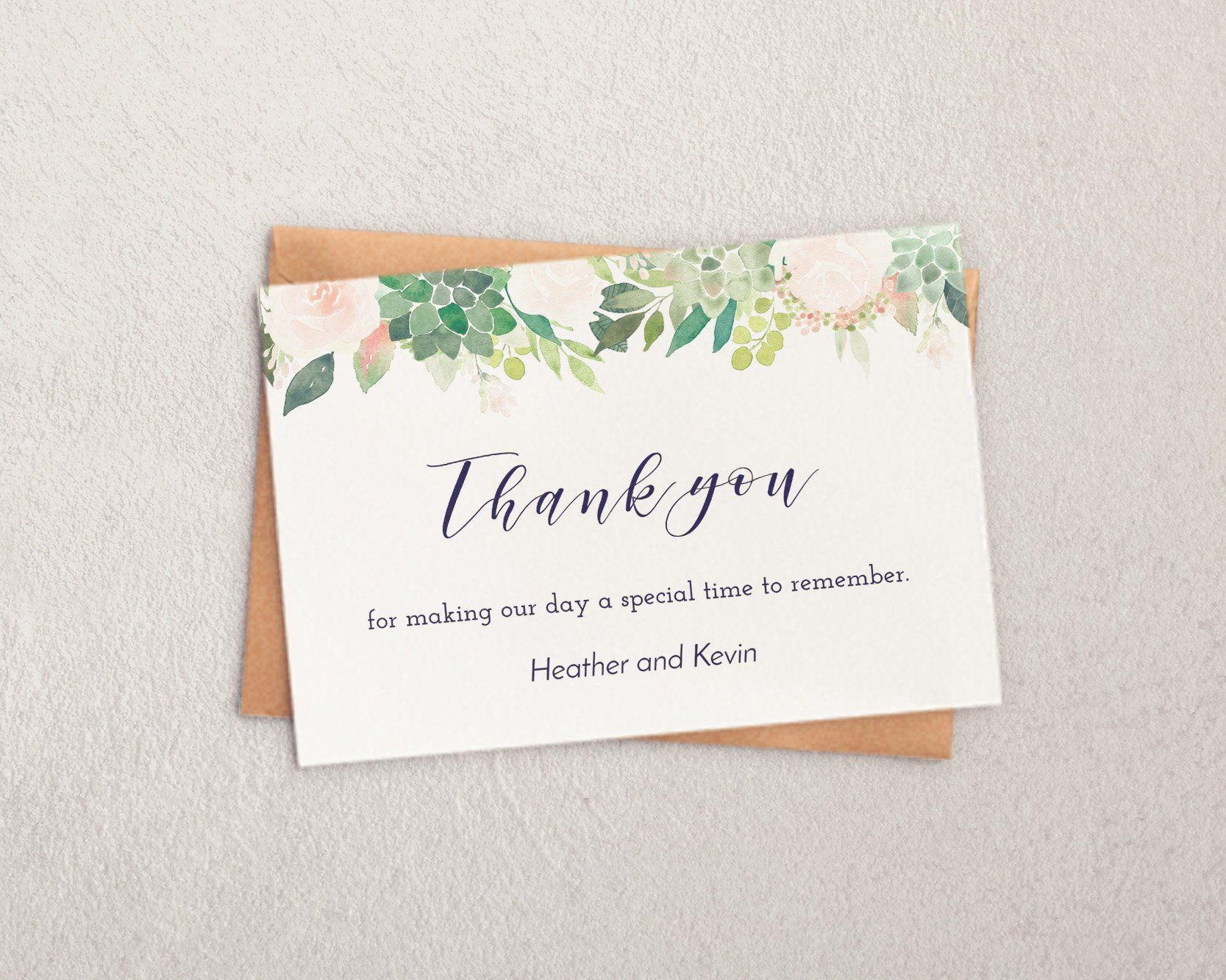 003 Imposing Thank You Note Template Wedding Shower Highest Clarity  Bridal Card Sample WordingFull